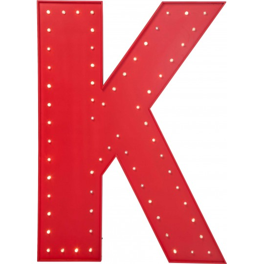 Applique K rouge LED Kare Design
