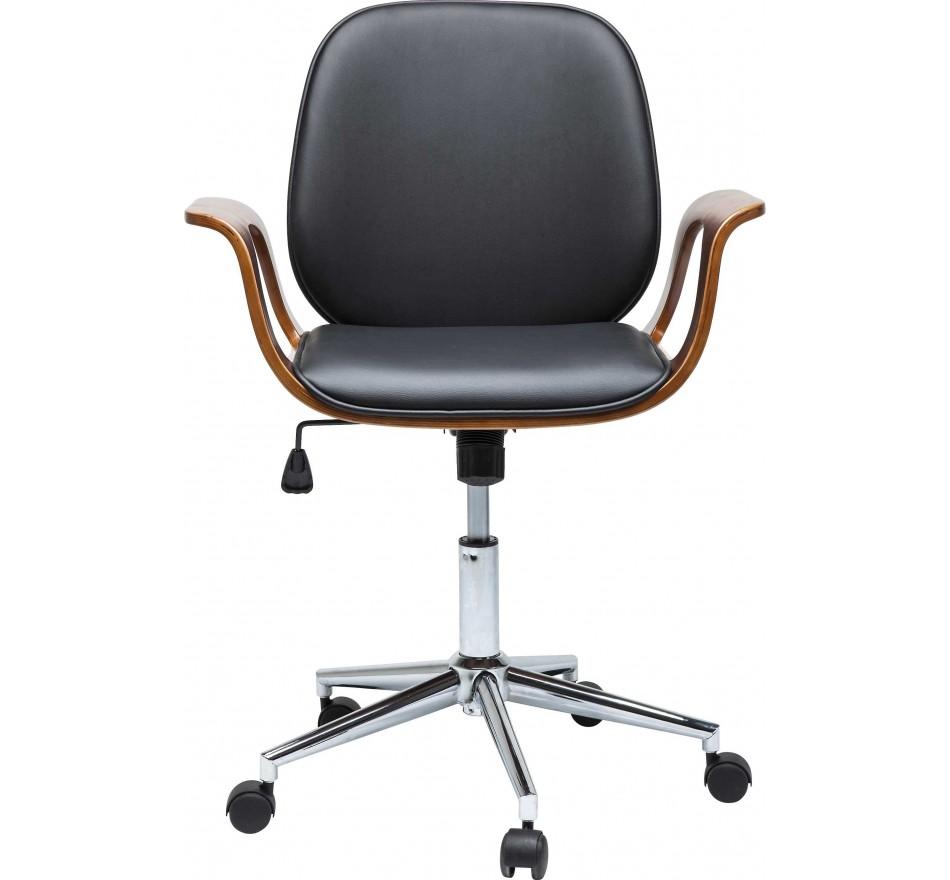 chaise de bureau contemporaine noire patron kare design. Black Bedroom Furniture Sets. Home Design Ideas
