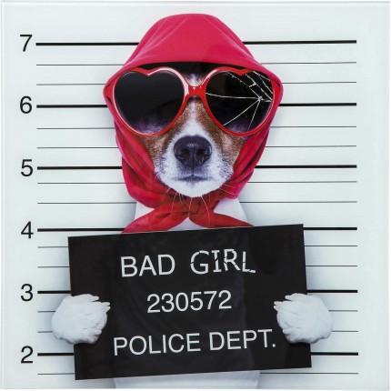 Tableau en verre Bad Girl 40x40cm Kare Design
