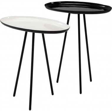 Tables d'appoint Uovo set de 2 Kare Design