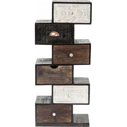Chiffonnier Zick Zack Finca 6 tiroirs Kare Design