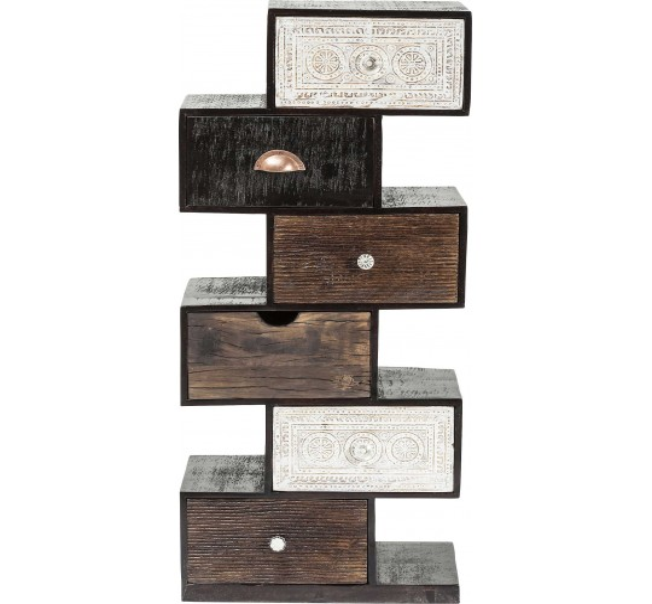 Commode Zick Zack Finca 6 tiroirs Kare Design