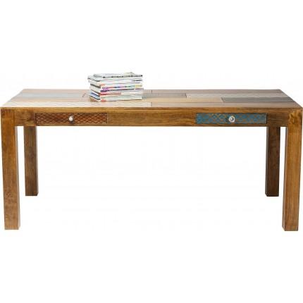 Table Soleil 180x90cm 2 tiroirs Kare Design