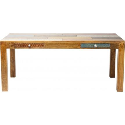 Table Soleil 180x90 cm 2 tiroirs Kare Design