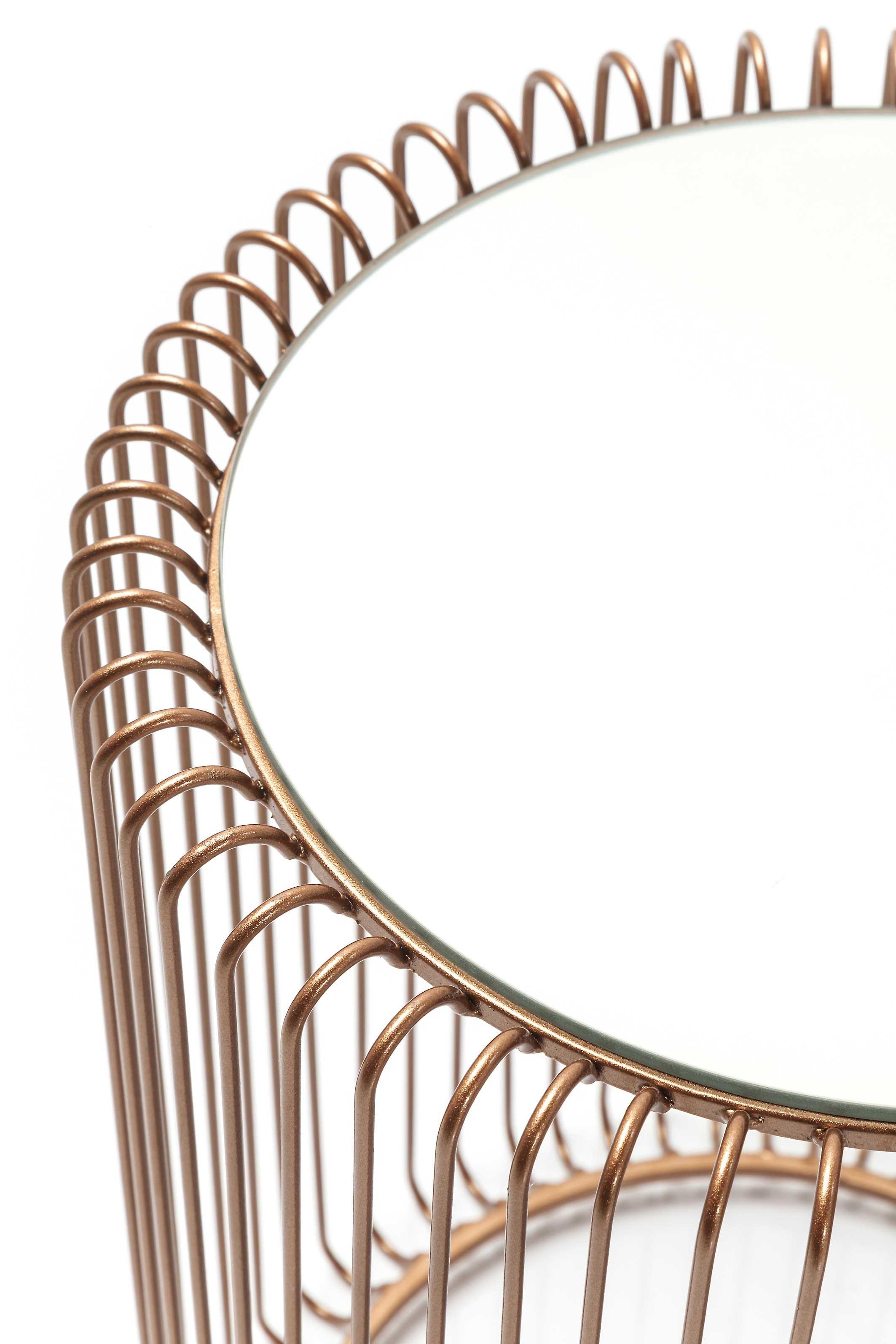Tables d'appoint rondes Wire cuivre set de 2 Kare Design