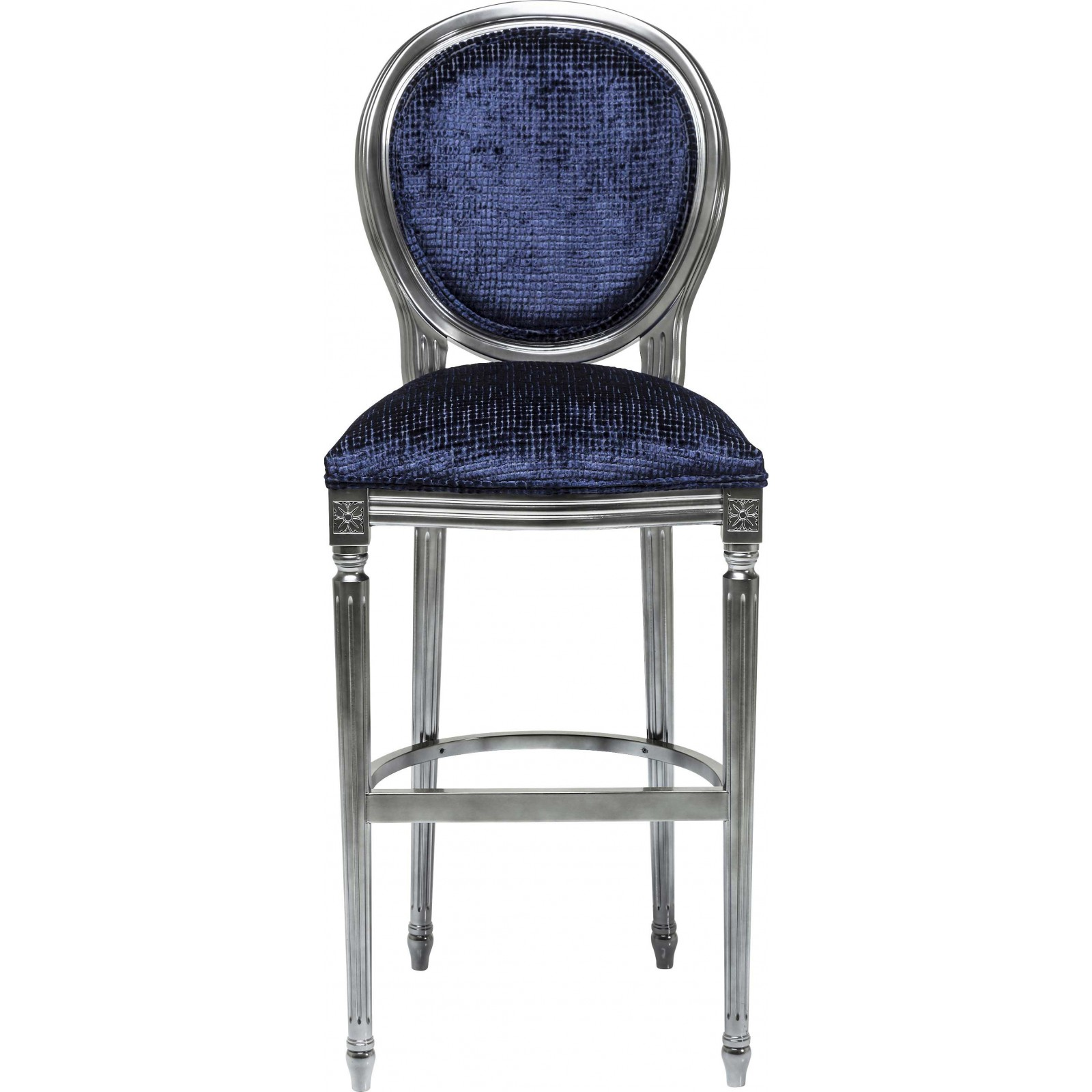 tabouret de bar baroque bleu fonc posh kare design. Black Bedroom Furniture Sets. Home Design Ideas