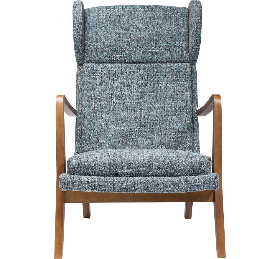 fauteuil oreilles scandinave gris bleu silence mottle kare. Black Bedroom Furniture Sets. Home Design Ideas