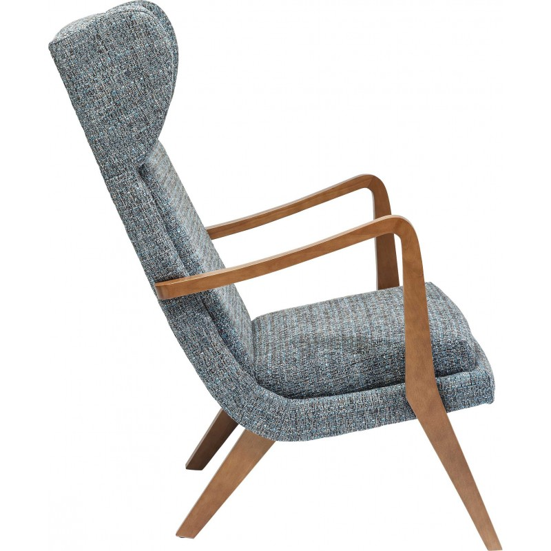 fauteuil oreilles scandinave gris bleu silence mottle kare. Black Bedroom Furniture Sets. Home Design Ideas
