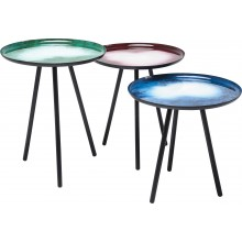 Tables d'appoint Galaxy 3/set Kare Design