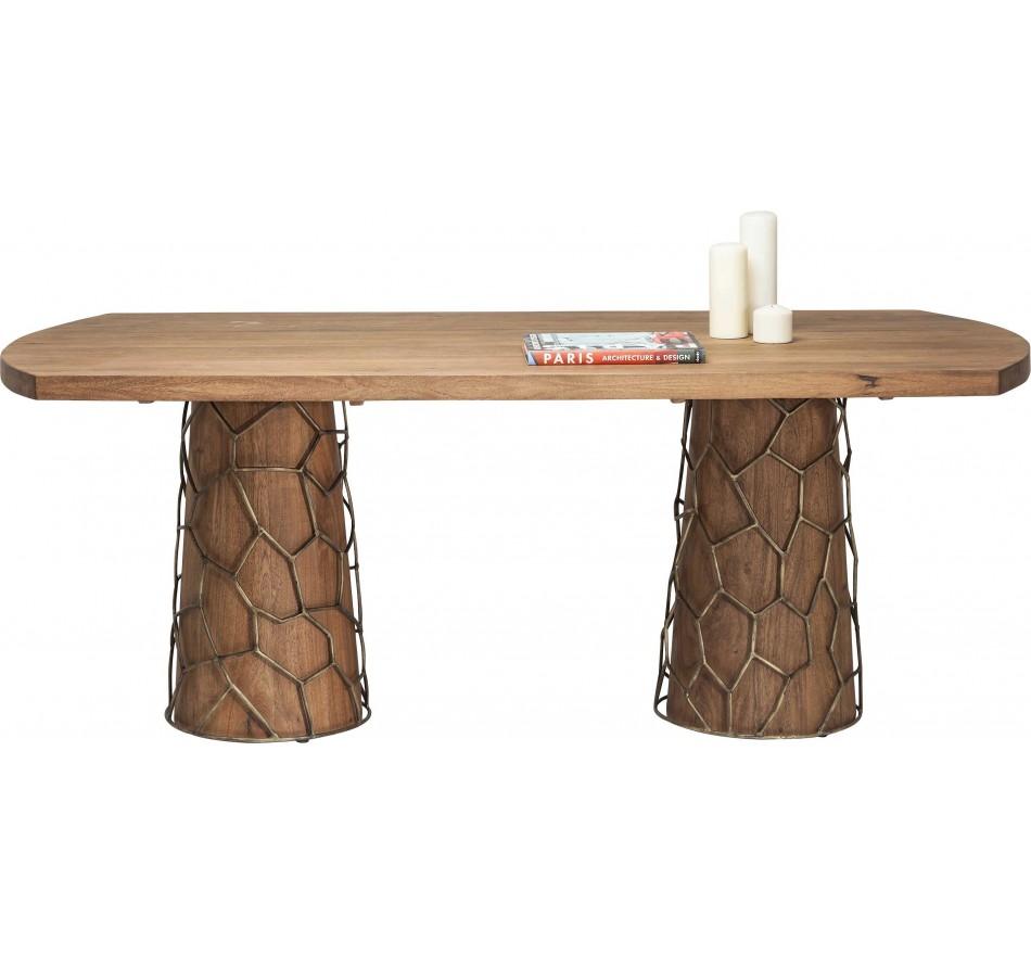 Table Mesh Brass 200x100 cm Kare Design