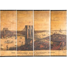Décoration Murale East River Bridge Canvas 4/set Kare Design