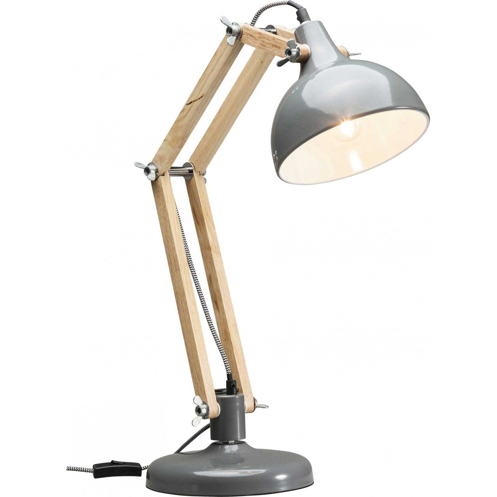 Lampe de table work station grise kare design mozeypictures Choice Image