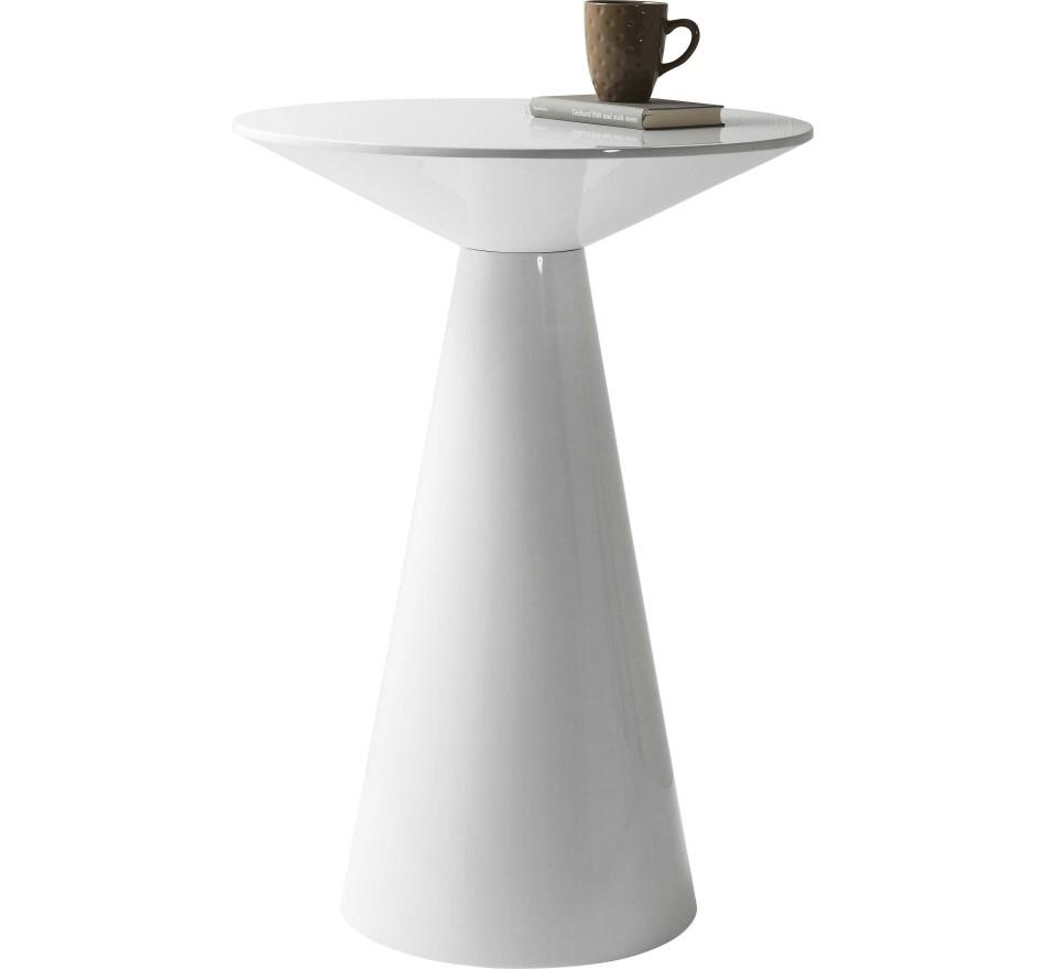 Table haute Backstage Glossy blanche Kare Design
