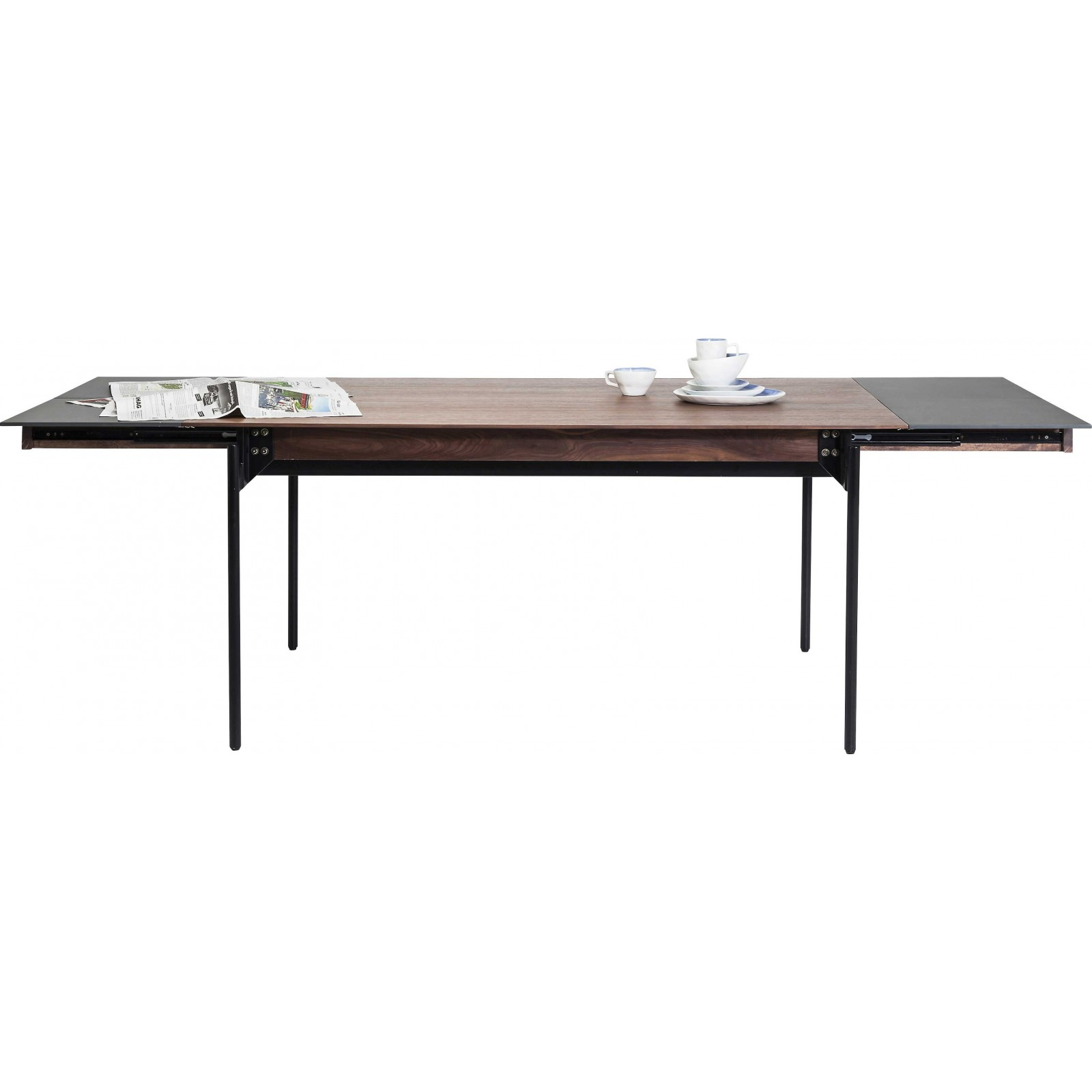Table rallonges undercover 160 240x90 cm kare design for Table 160 cm avec rallonge