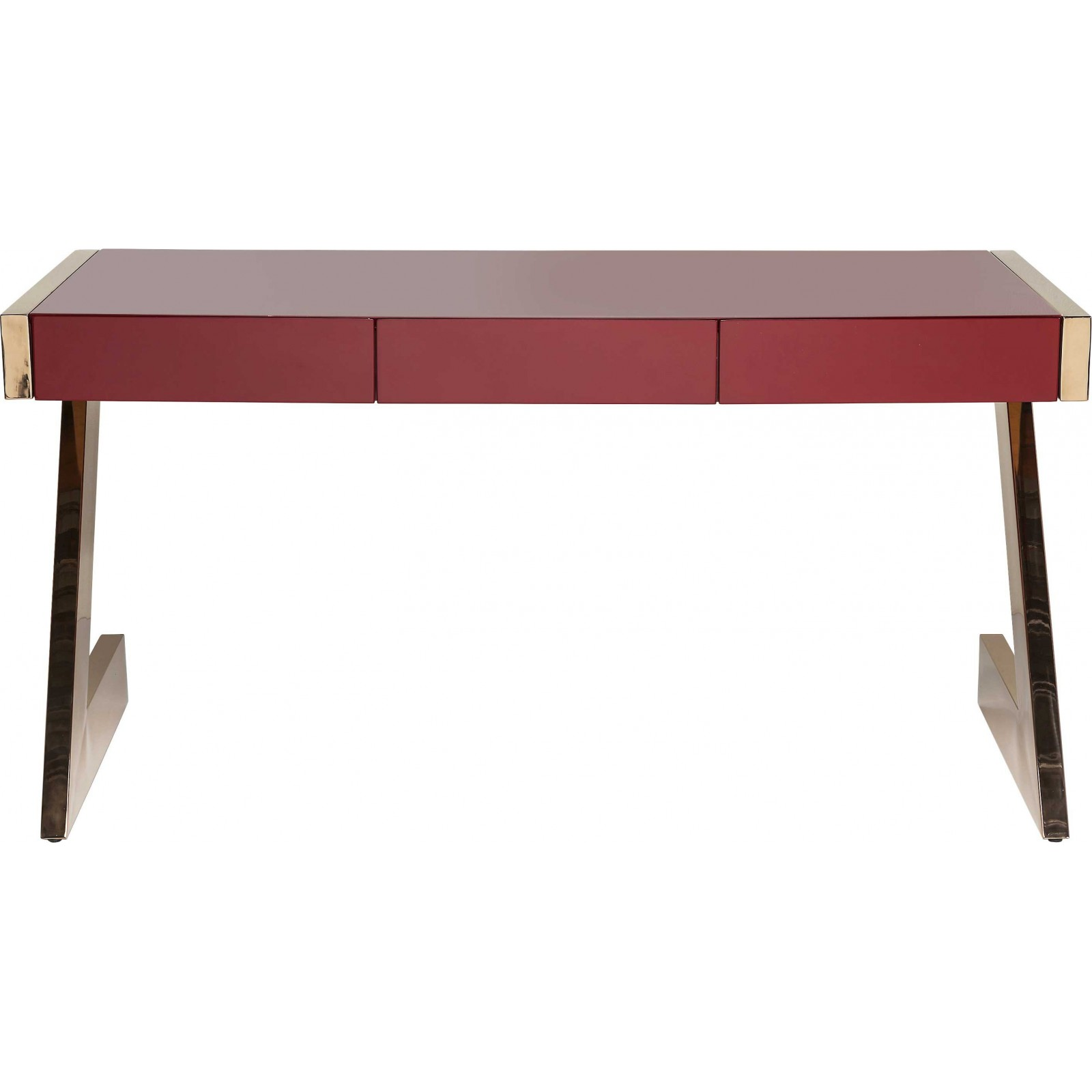 Bureau design mister z rouge 150x70 cm kare design for Meuble bureau rouge