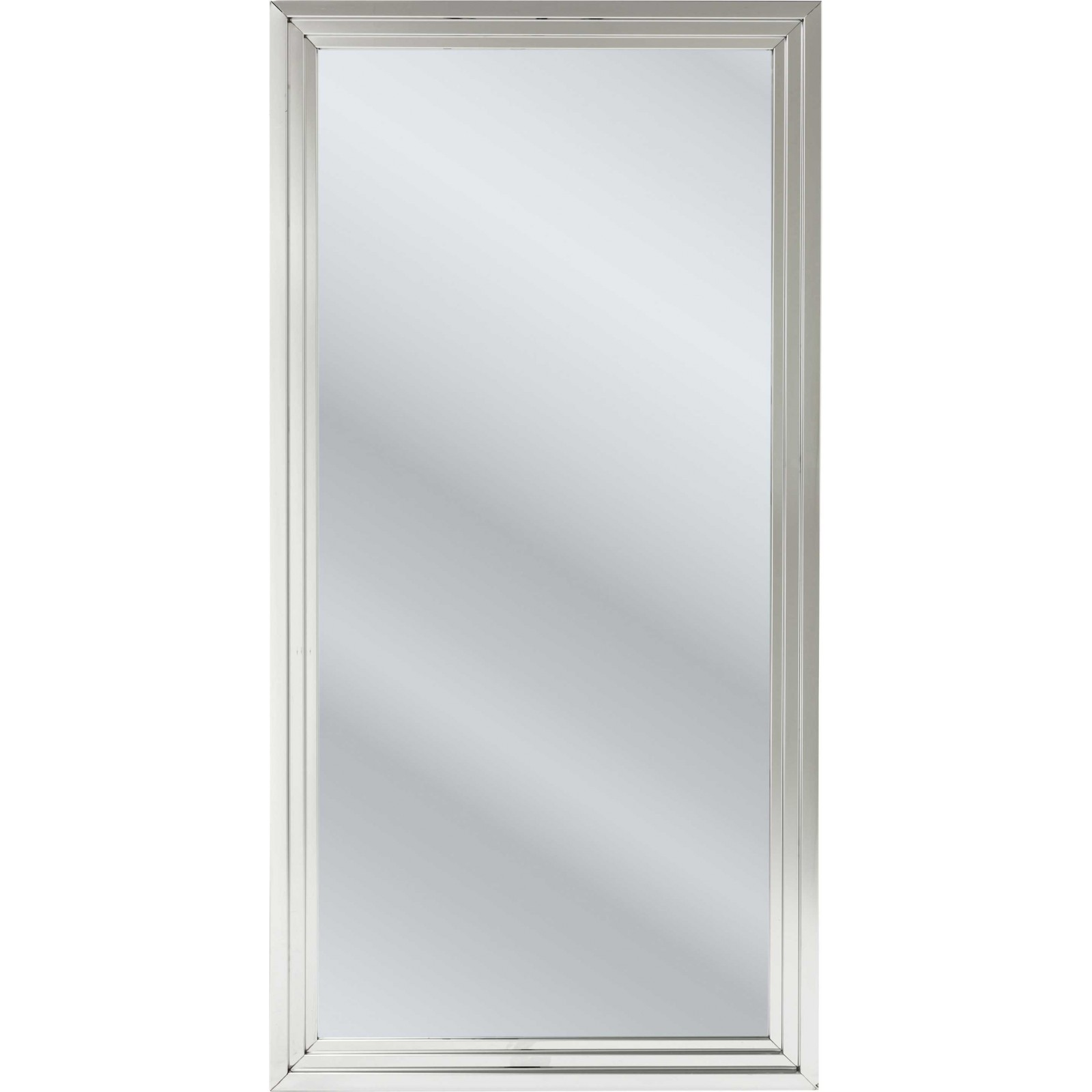 Miroir steel step argent 180x90 cm kare design for Miroir 90 x 70