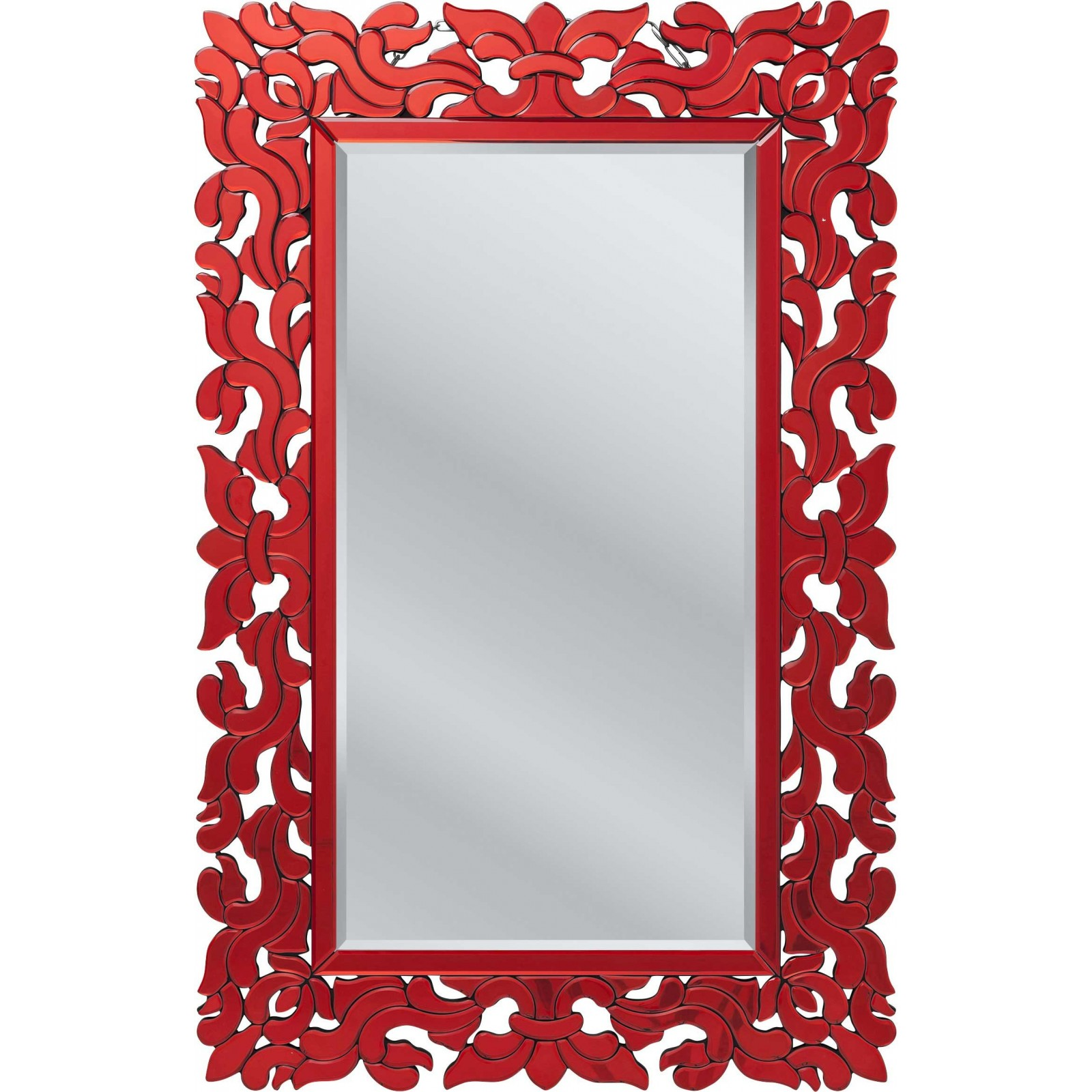 Miroir palazzo rectangulaire rouge kare design kare click for Miroir rouge
