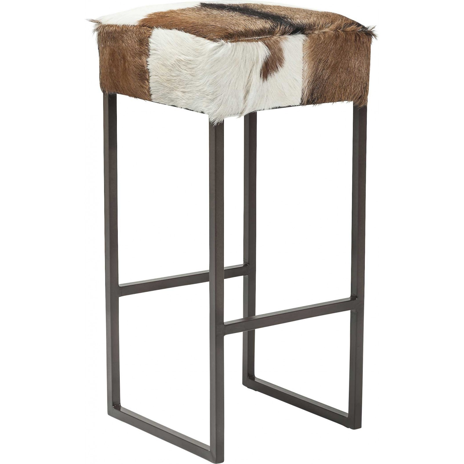 tabouret de bar rustique marron country life kare design. Black Bedroom Furniture Sets. Home Design Ideas
