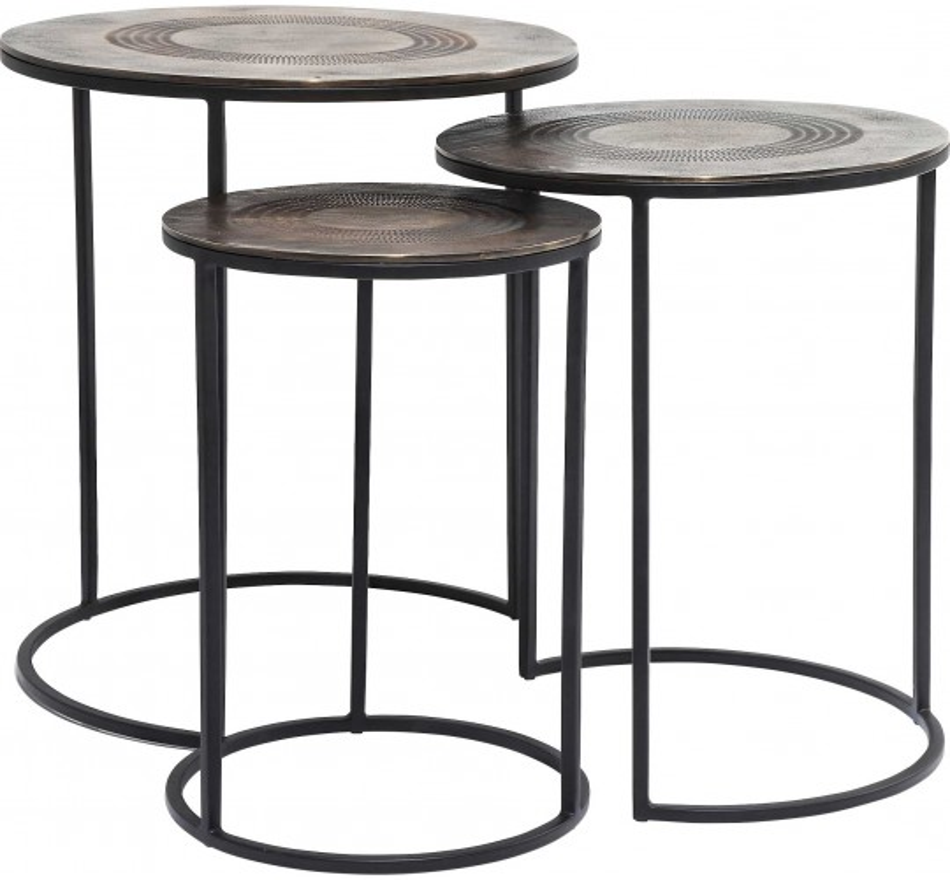Tables d'appoint Marrakesh 3/set Kare Design