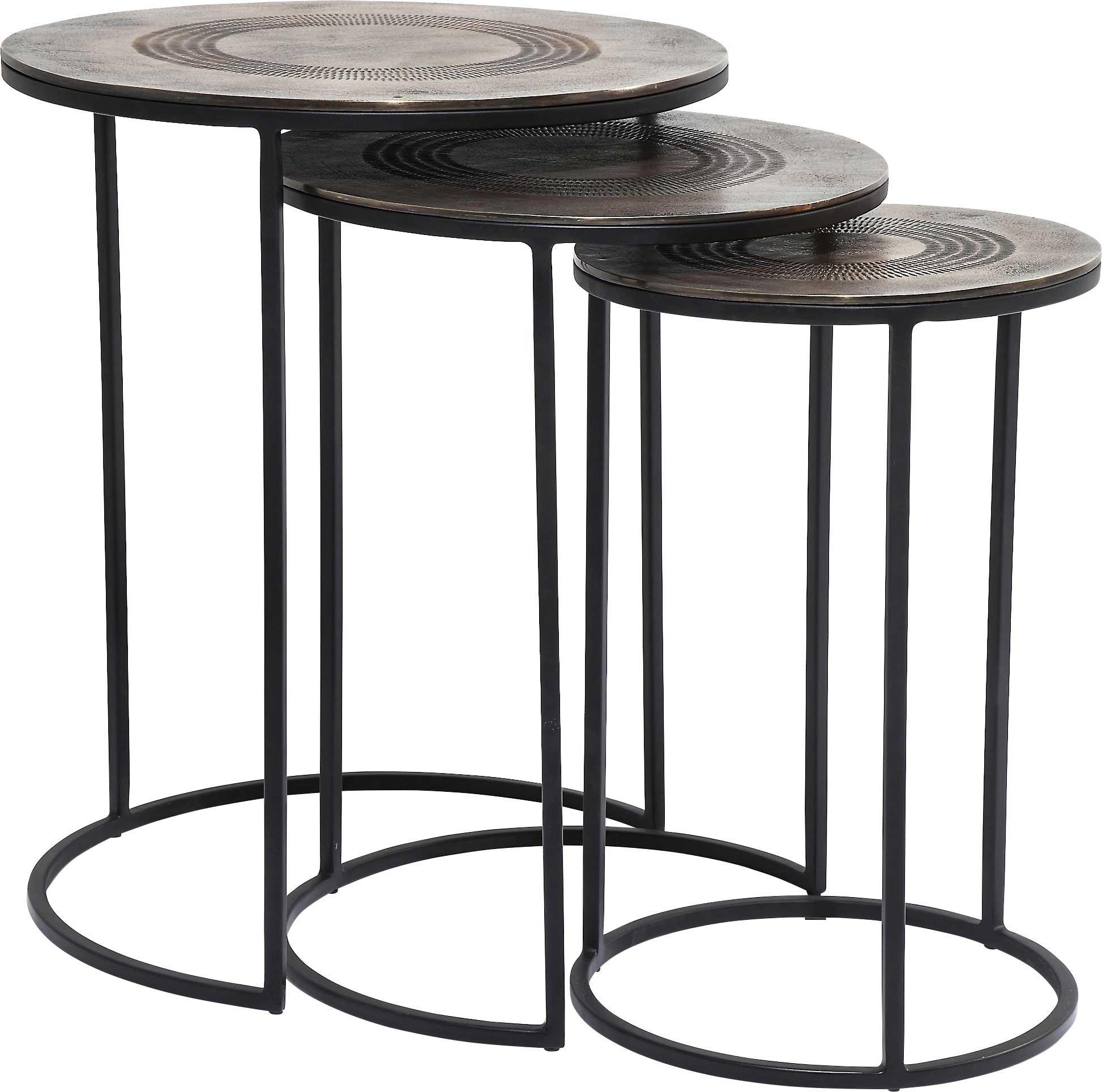 Tables d'appoint Marrakesh set de 3 Kare Design