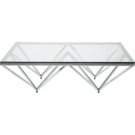 Table basse Network 105x105cm argentée Kare Design