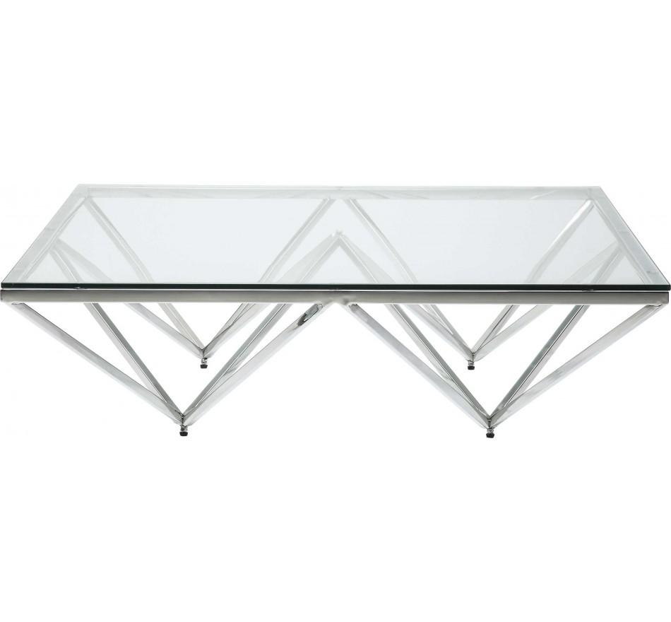 Table basse Network chromée 105x105cm Kare Design