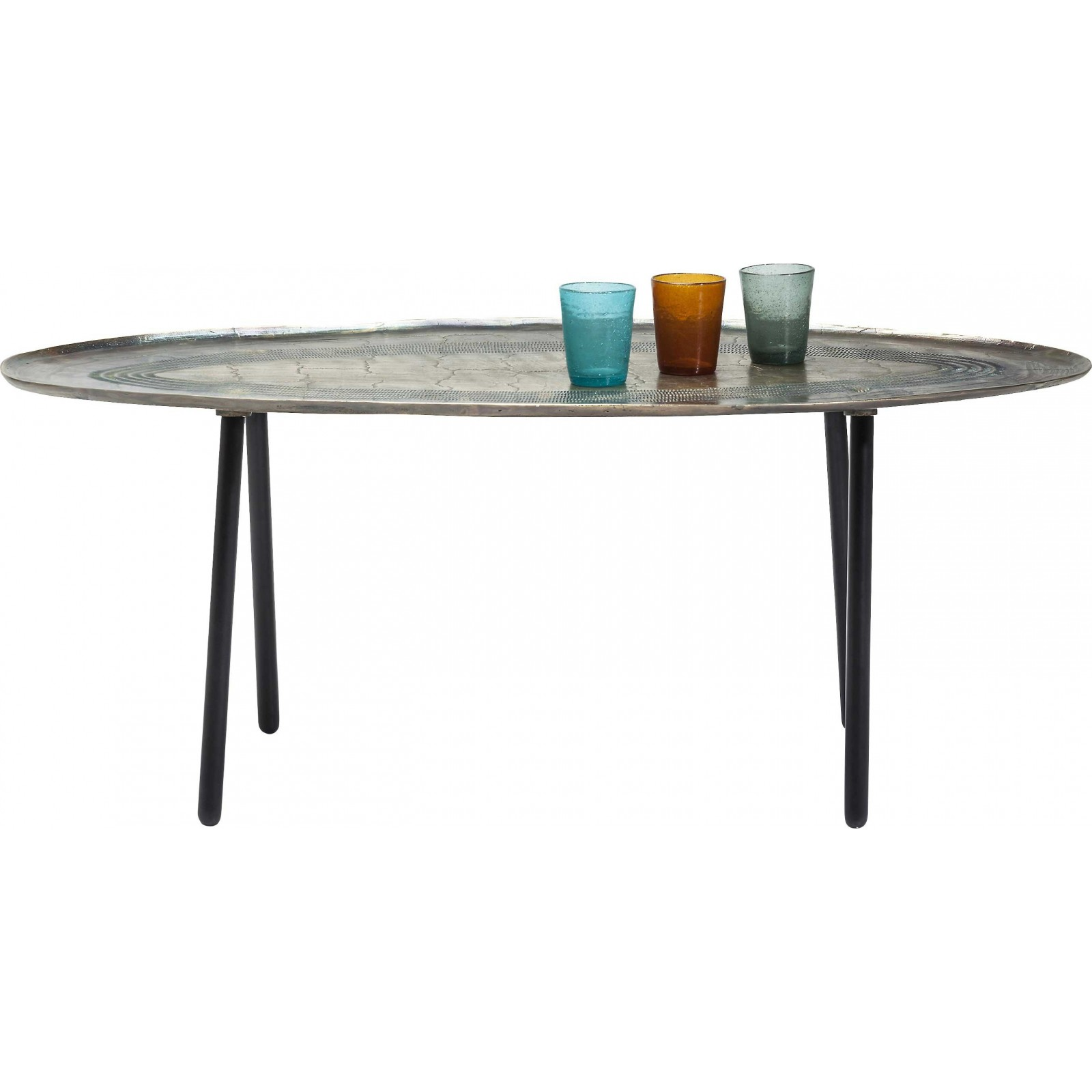 Table basse ovale el camino kare design - Table basse ovale design ...