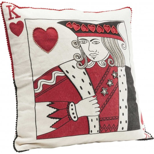 Coussin King of Hearts 40x40 Kare Design