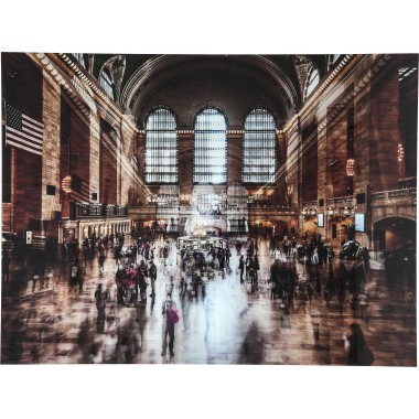 Tableau en verre Grand Central Station 120x160cm Kare Design