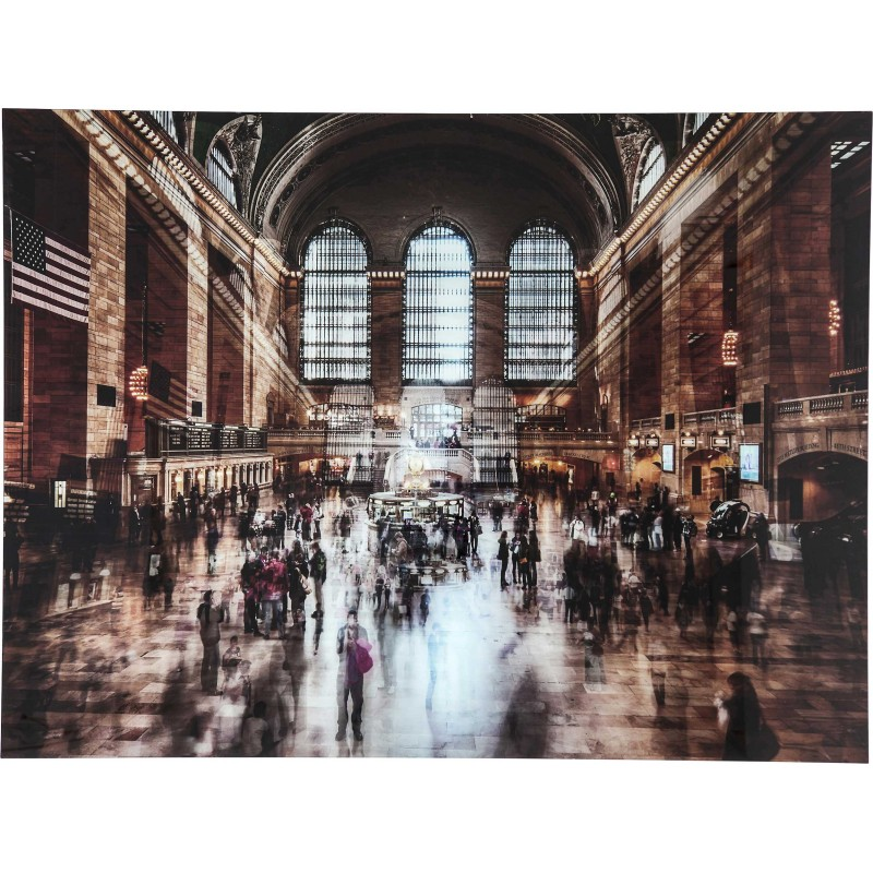 tableau en verre grand central station 120x160cm kare design. Black Bedroom Furniture Sets. Home Design Ideas
