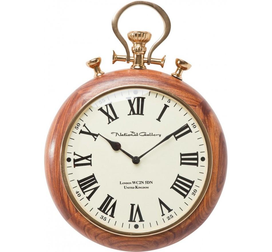 Horloge murale Pocket bois Kare Design