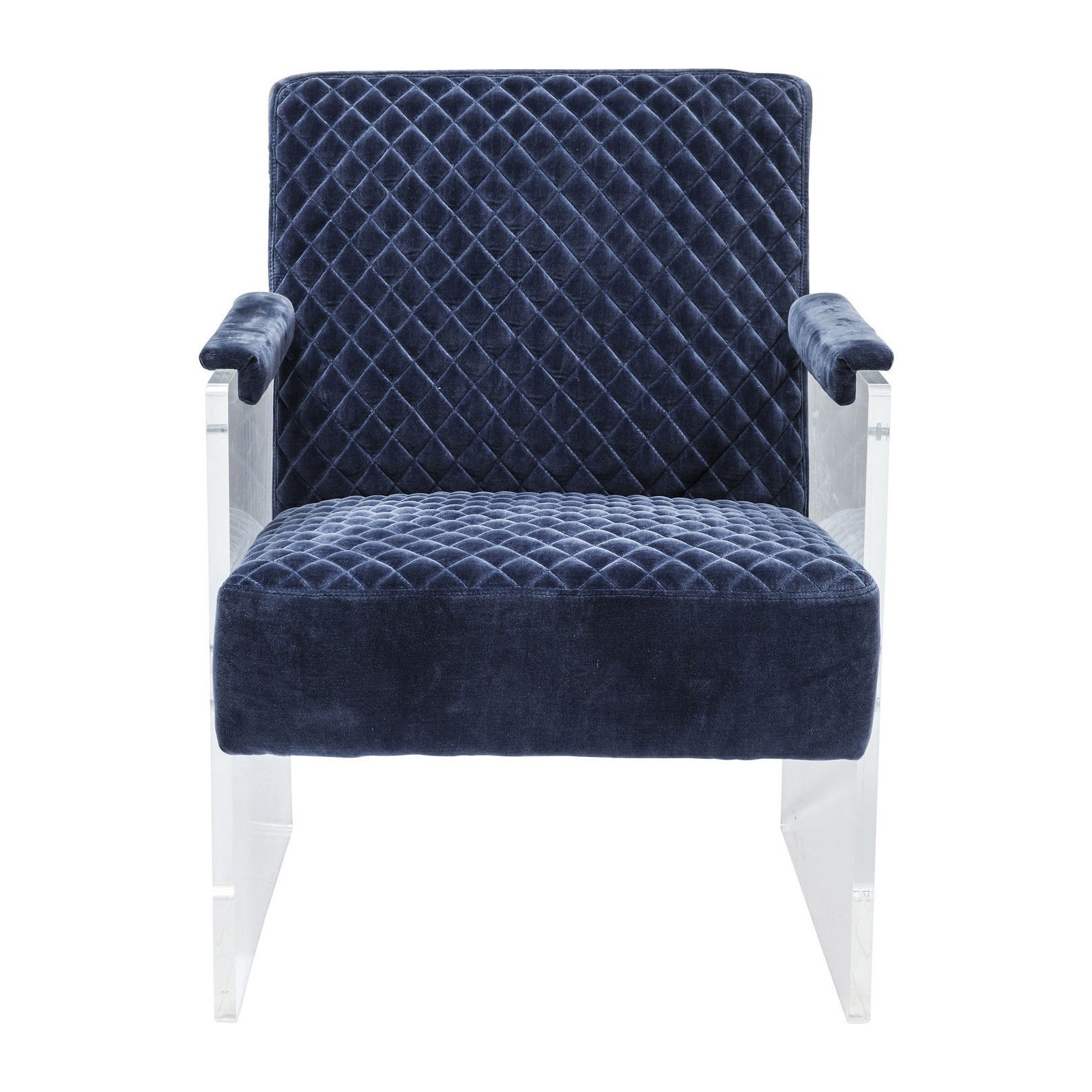fauteuil moderne en velours bleu stich visible kare design. Black Bedroom Furniture Sets. Home Design Ideas