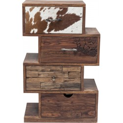 Chiffonnier Rodeo Zig Zag 4 tiroirs Kare Design