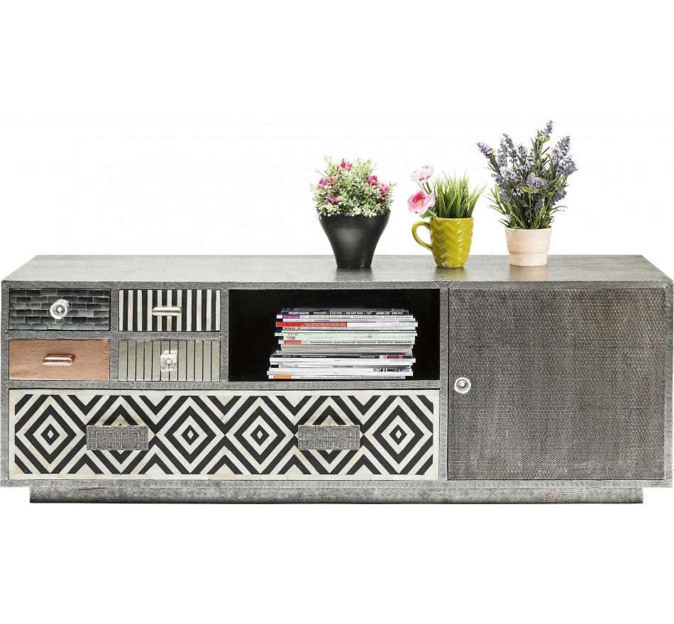 Meuble TV Chalet 1 porte, 5 tiroirs Kare Design