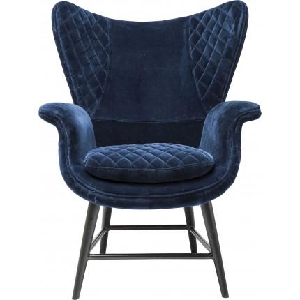 Fauteuil Tudor velours bleu Kare Design