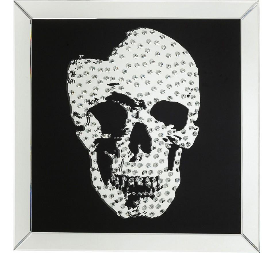 Tableau Rockstar Skull 80x80cm Kare Design