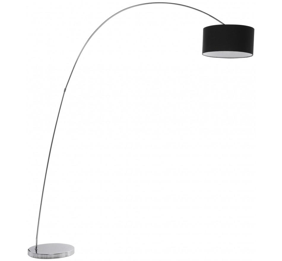 Lampadaire Gooseneck 205cm Noir/Chrome Kare Design