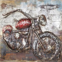 Tableau Iron Motorbike 100x100 Kare Design