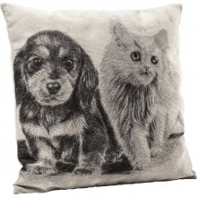 Coussin Little Cat and Dog 45x45cm Kare Design