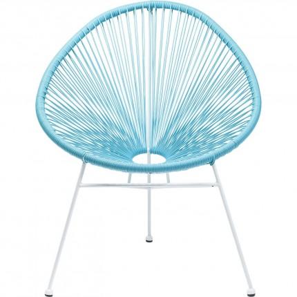 Fauteuil de jardin Spaghetti bleu clair Kare Design