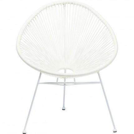 Fauteuil de jardin Spaghetti blanc Kare Design