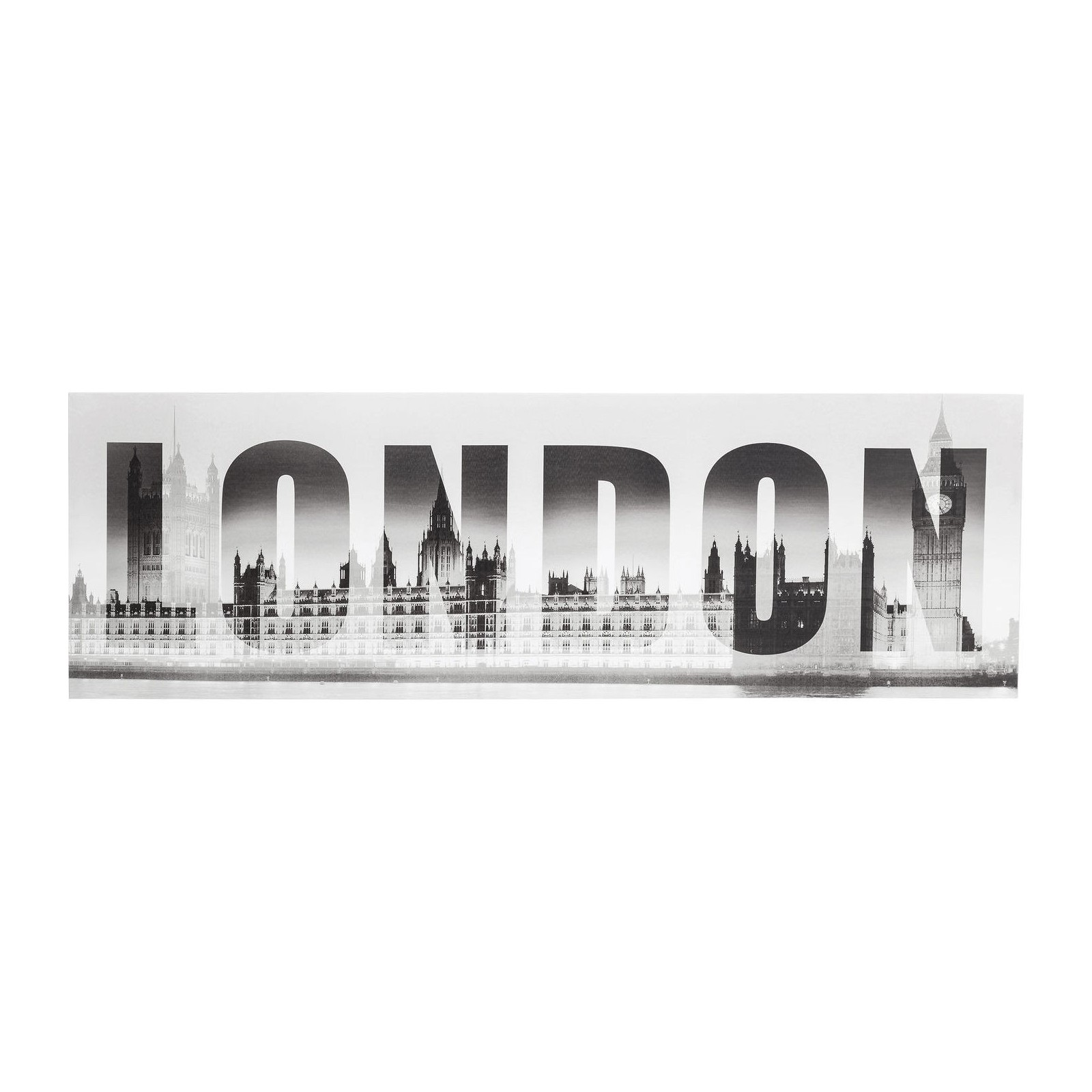 tableau noir et blanc londres et big ben london kare design. Black Bedroom Furniture Sets. Home Design Ideas