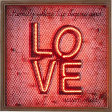 Applique murale Love NEON Grid Kare Design