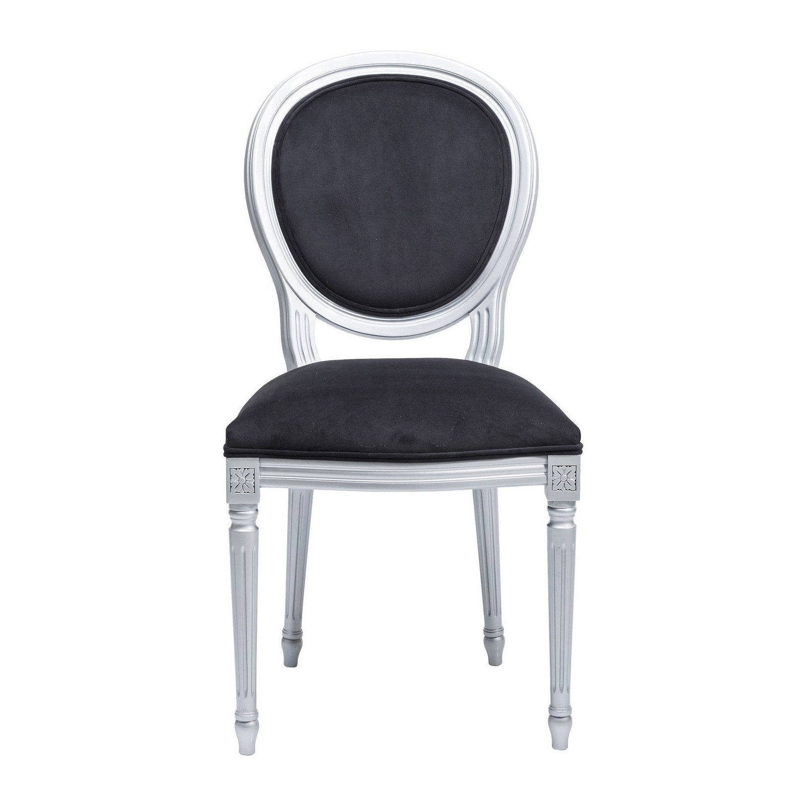 Chaise baroque noir argent rockstar by geiss kare for Chaise vibrante