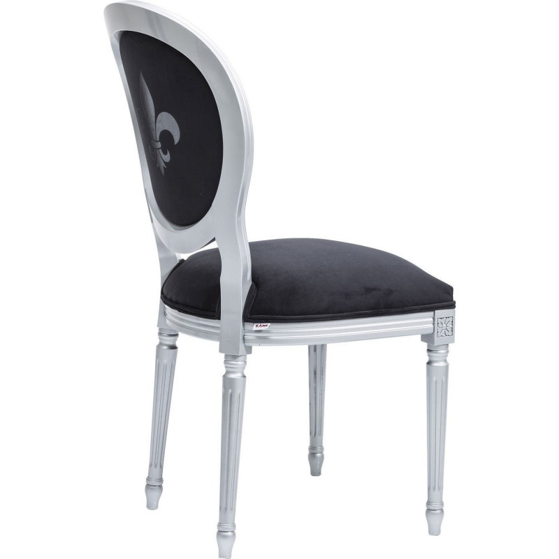 Chaise baroque noir argent rockstar by geiss kare for Chaise kare design