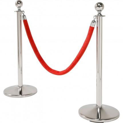 Barrières VIP Vegas argent et rouge set de 2 Kare Design