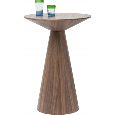 Table de bar Backstage noyer 70cm Kare Design