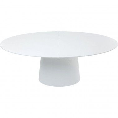 Table à rallonges Benvenuto blanche Kare Design