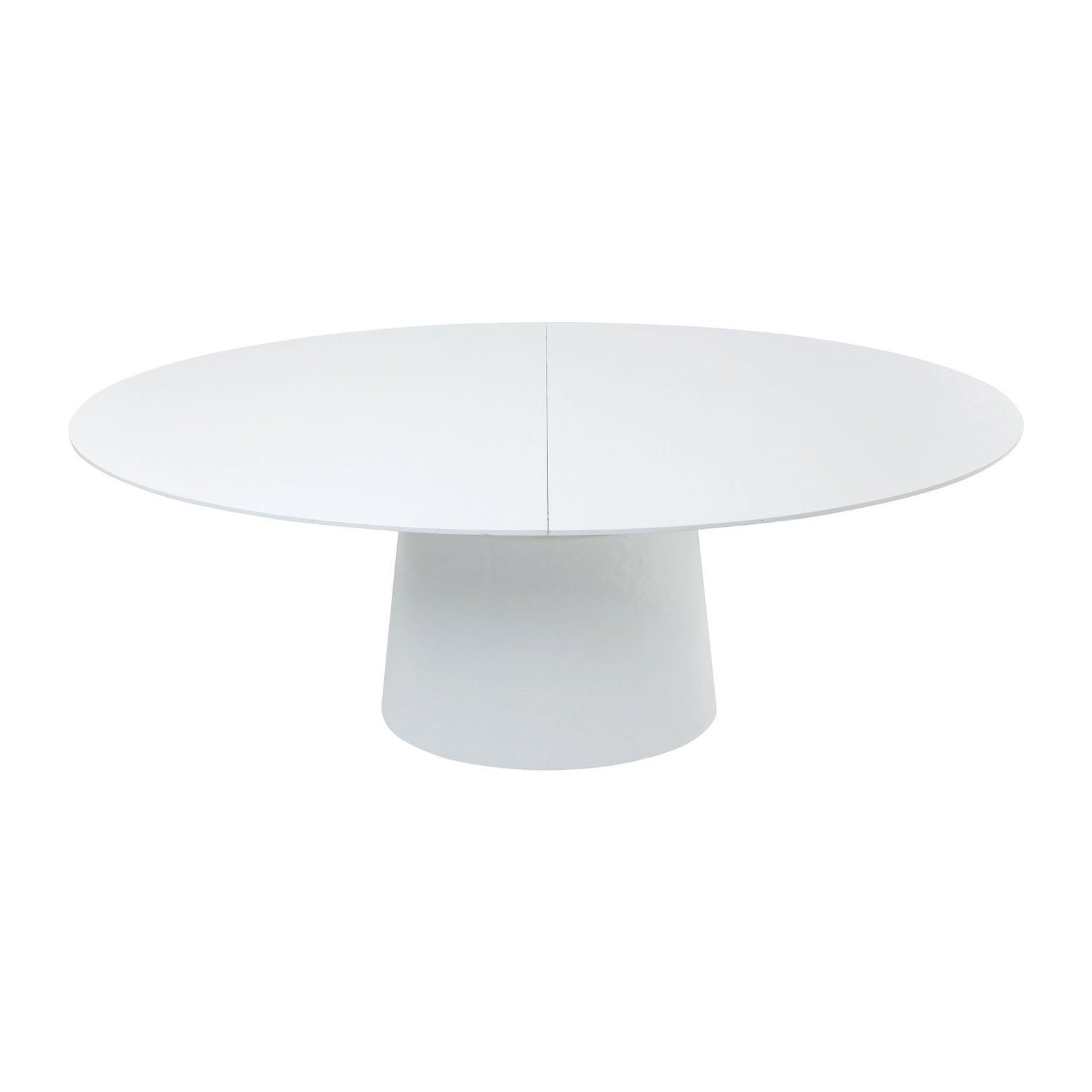 Table ronde blanche design top elegant table basse de for Table ronde a rallonge blanche