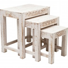 Table d appoint Taberna Blanche 3/set Kare Design